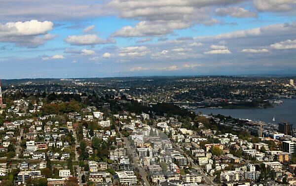 Seattle tourism landmark USA space needle view