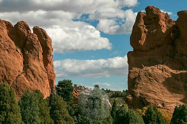 Garden of the Gods in Colorado Springs USA Felsformation Berge Steine