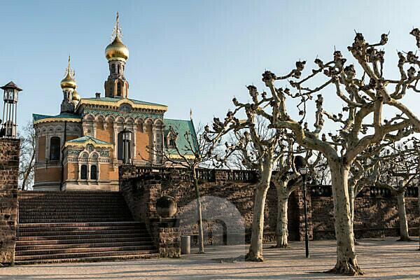Germany, Hesse, Darmstadt, Russian Orthodox Chapel on Mathildenhöhe, St. Maria Magdalena, architect Leon N. Benois