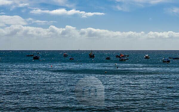 Aussicht von Câmara de Lobos, ein Fischerdorf westlich von Funchal, Maderia, Portugal
