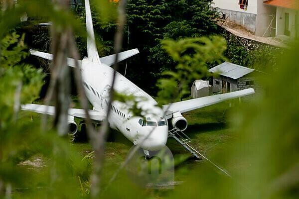Flugzeugwrack in Uluwatu Bali Indonesien