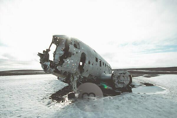 Flugzeugwrack Island Instagram-Style Absturz Sólheimasandur