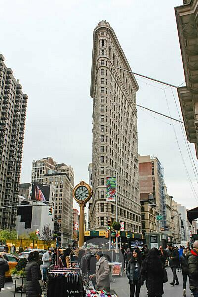 Tourismus rund um Flatiron Building in New York USA
