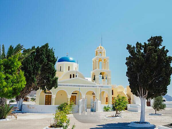 St. George church in Oia Santorini Greece