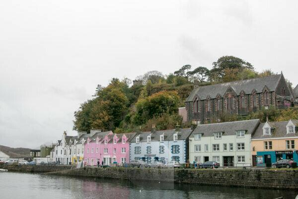 Colorful houses on Isle of Skye in Portree