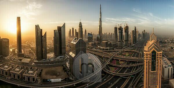 United Arab Emirates, Dubai, Burj Khalifa, panorama