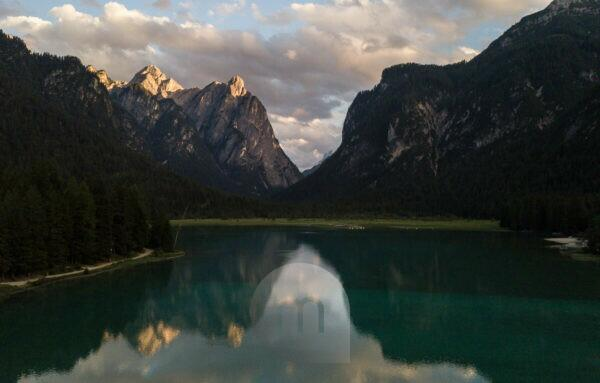 Italien, Südtirol, Dolomiten, Toblacher See