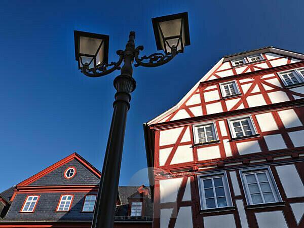 Europe, Germany, Hesse, Lahn-Dill-Kreis, Lahn-Dill-Bergland, Wetzlar, old town on the Kornmarkt