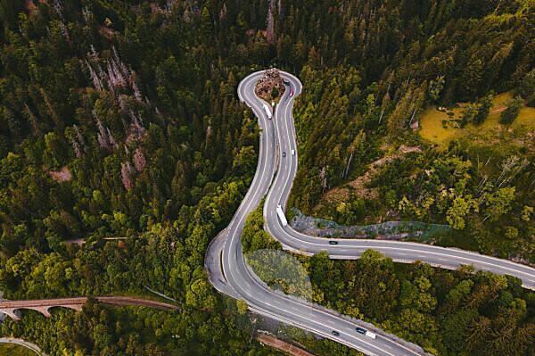 Schwarzwald, Höllental, Kreuzfelsenkurve, Viadukt, Ravennaschlucht, Baden-Württemberg, Deutschland, Europa