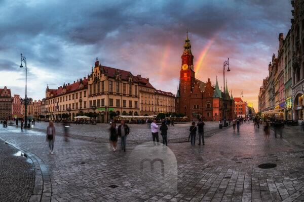 Europe, Poland, Voivodeship	Lower Silesian, Wroclaw, Breslau - Market Square and Town Hall