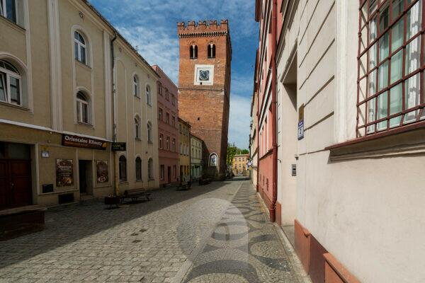 Europe, Poland, Lower Silesia, Zabkowice Slaskie / Frankenstein - The Leaning Tower