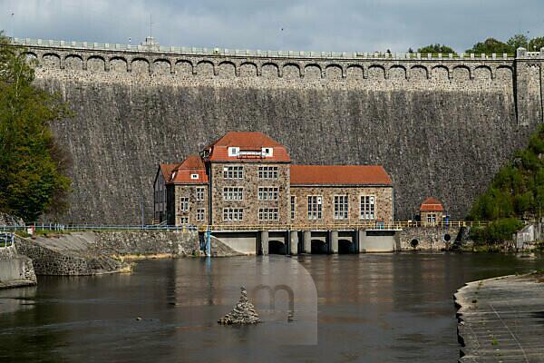 Europe, Poland, Lower Silesia, Pilchowice Dam / Bobertalsperre Mauer