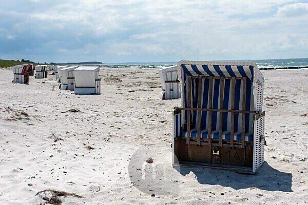 Beach chairs on the island of Hiddensee