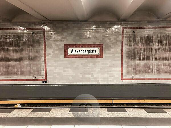 Haltestelle Alexanderplatz Berlin Mitte Ubahn