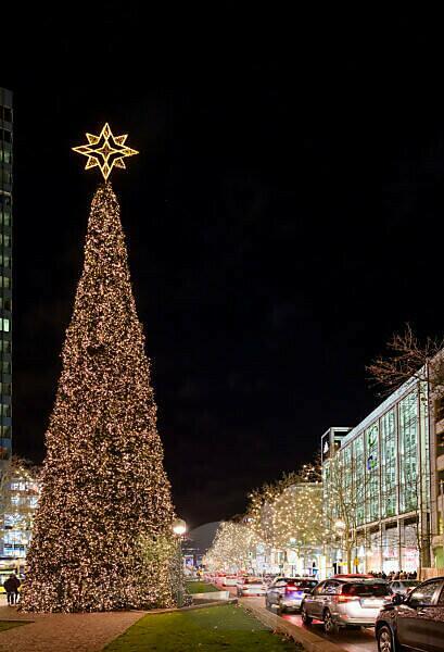 Deutschland, Berlin, Weihnachtsmarkt an der Gedächtniskirche.