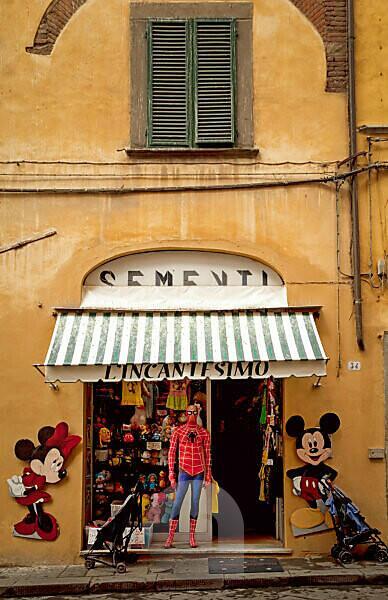 Geschäft, Spielzeug, Lucca, Toskana, Italien