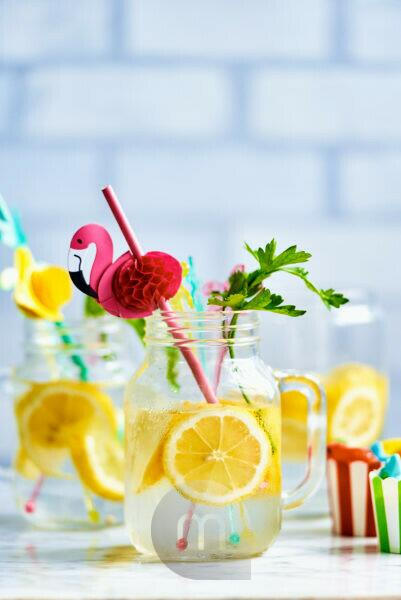 Pitcher with fresh homemade lemonade