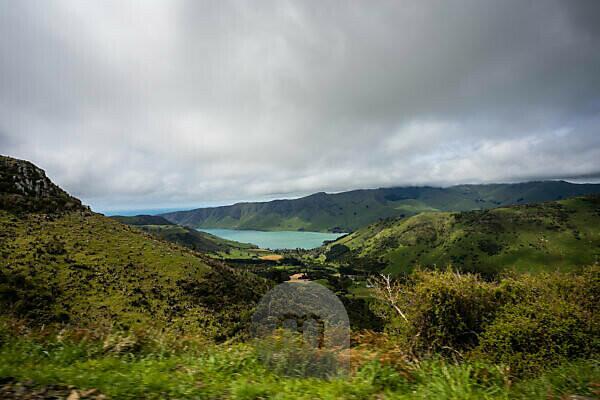 Pazifik Bucht in der Canetrbury Region