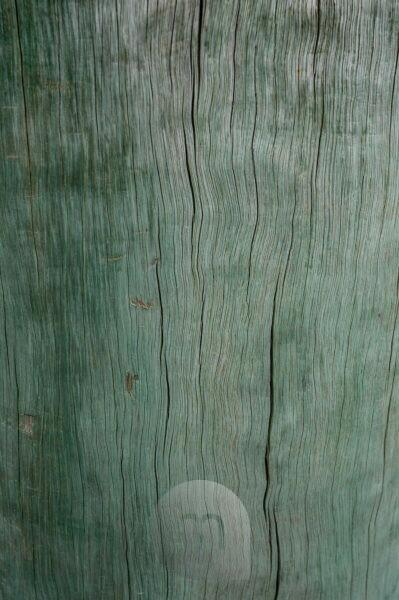 turquoise wooden fund, jetty in the port of Akaroa