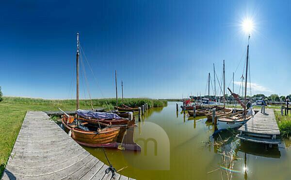 Althagen harbor in the Baltic Sea resort of Ahrenshoop, Mecklenburg-Western Pomerania.