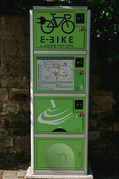 e-bike charging station in Rottendorf near Würzburg