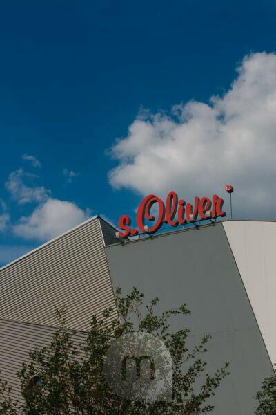 Headquarters of the s.Oliver fashion manufacturer in Rottendorf near Würzburg Logo
