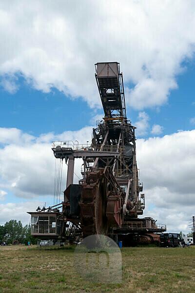 Germany, Saxony-Anhalt, Gräfenhainichen, old brown coal excavators, open-cast mining technology, Ferropolis, city of iron.