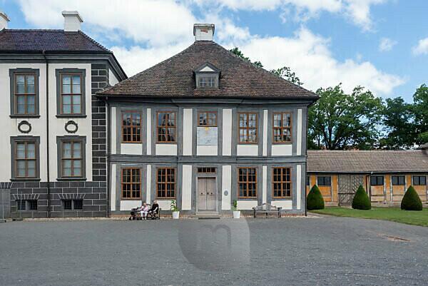 Germany, Saxony-Anhalt, Oranienbaum, baroque castle, belongs to the Wörlitz Garden Realm, Unesco World Heritage.