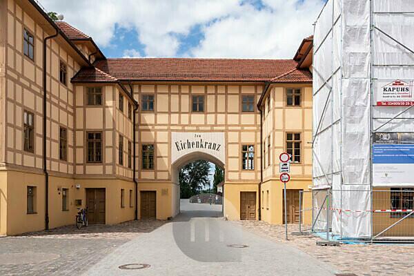 Deutschland, Sachsen-Anhalt, Wörlitz, Gasthaus Zum Eichenkrankt, Gartenreich, Unesco-Welterbe.