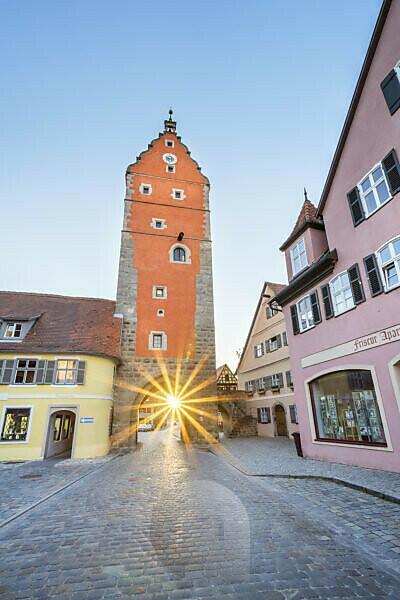 Wörnitztor in der Altstadt von Dinkelsbühl, Mittelfranken, Franken, Bayern, Süddeutschland, Deutschland, Europa