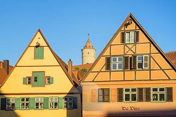 Häuser in der Altstadt von Dinkelsbühl, Mittelfranken, Franken, Bayern, Süddeutschland, Deutschland, Europa