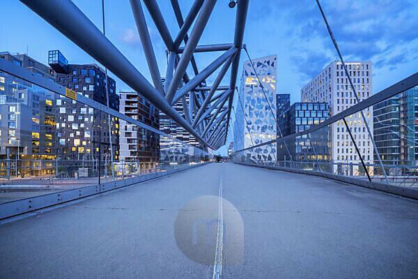Moderne Architektur Barcode Project in der Innenstadt von Oslo, Bjørvika, Norwegen, Skandinavien, Nordeuropa, Europa