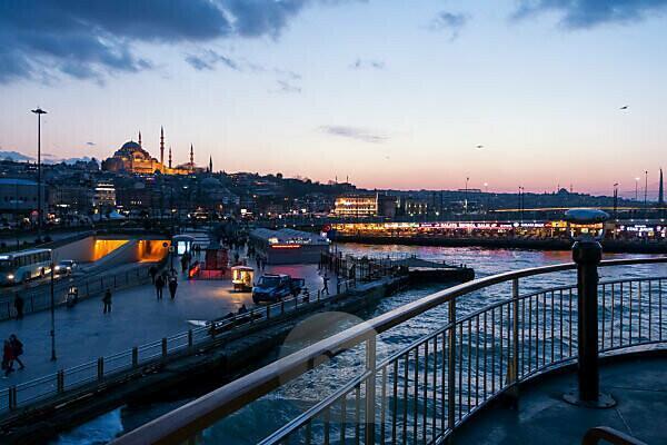 Turkey, Istanbul, Bosporus, ferry Üsküdar-Eminönü (from Asia to Europe)