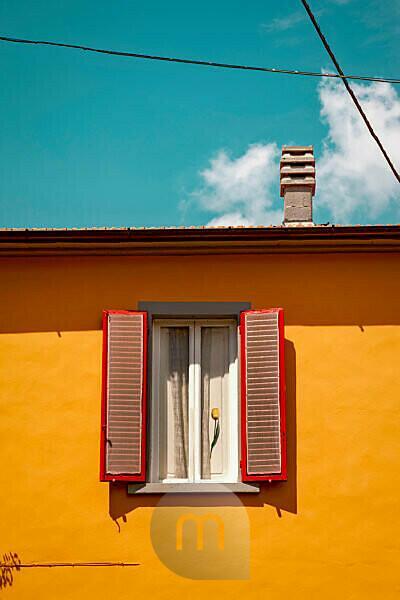 Haus, Fenster, Pistoia, Toskana, Italien