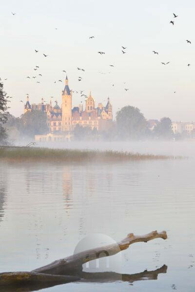 Europe, Germany, Mecklenburg-Western Pomerania, Schwerin, castle