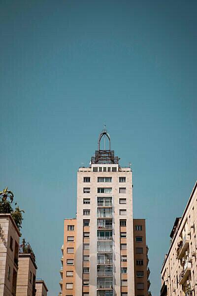 Haus, Hochhaus, Häuserzeile, Palermo, Sizilien, Hauptstadt, Großstadt, Italien