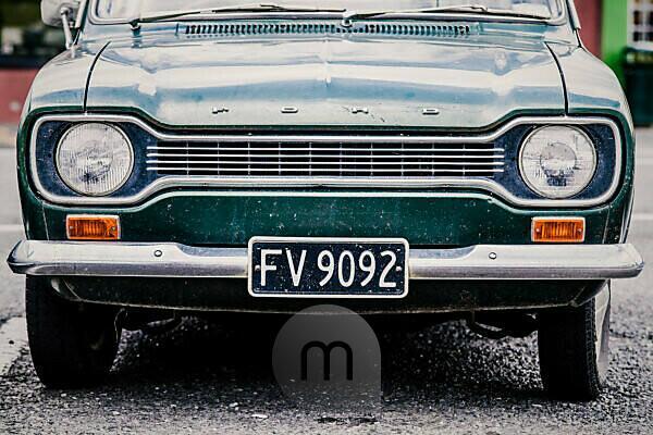New Zealand, Ngatea, vintage car Ford, partial view