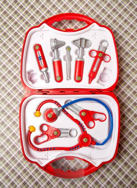 Doctor's case, toys, medicine, health