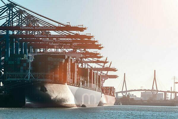 Germany, Hamburg, harbour, Burchardkai (quay), container ships, [M],
