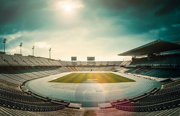Football stadium, empty,