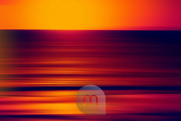 The blur of a alienation of the colour, sundown on a beach,
