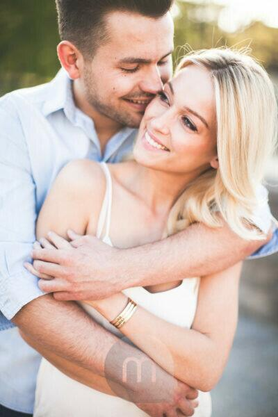Young couple, happy, in love, tenderness, embrace, portrait,