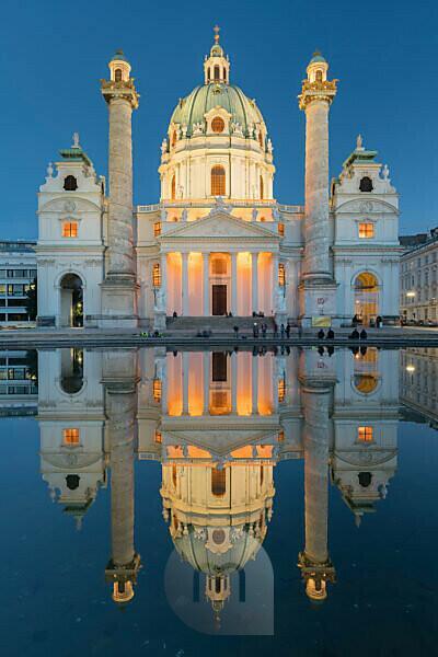 St. Charles's Church, Charles' Square, 4th district Wieden, Vienna, Austria