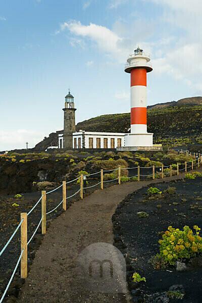 Leuchtturm Faro de Fuencaliente, Insel La Palma, Kanarische Inseln, Spanien
