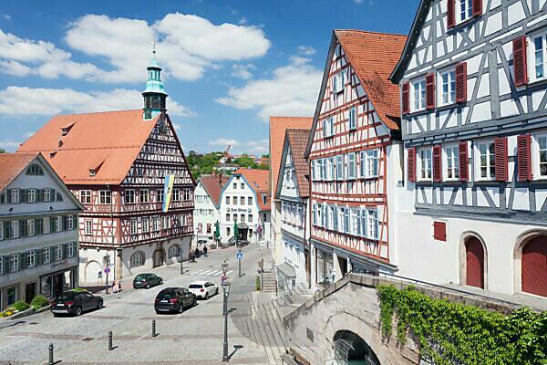City hall on the marketplace, Backnang, Rems Murr Kreis (district), Baden Württemberg, Germany