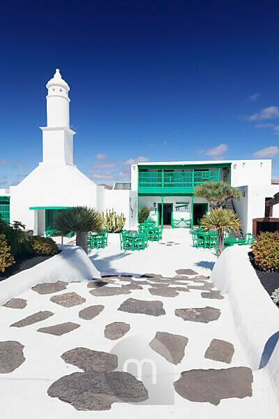 Estate Casa Museo del Campesino of Cesar Manrique, museum village, handicraft site, Mozaga with San Bartolome, Lanzarote, Canary islands, Spain