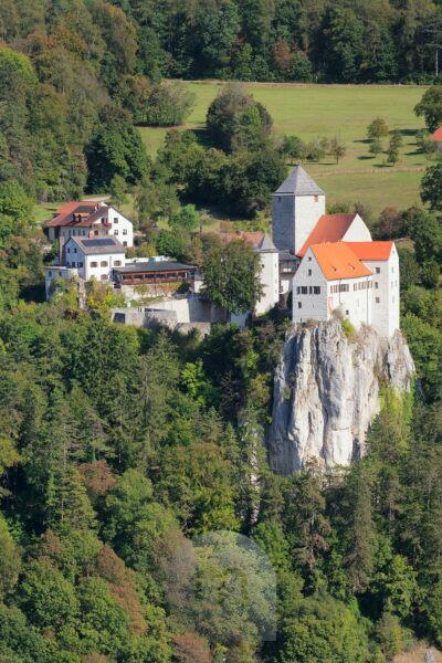 Castle Prunn near Riedenburg, nature reserve Altmuehl valley, Lower Bavaria, Germany