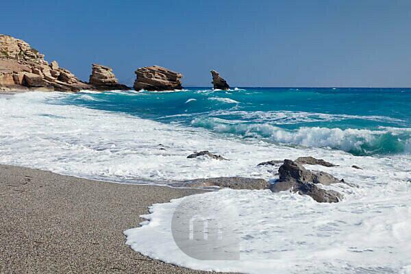 Strand von Triopetra, Südkreta, Kreta, Griechenland