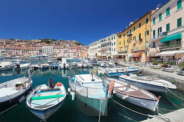 Hafen von Portoferraio, Insel Elba, Provinz Livorno, Toskana, Italien