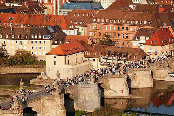 Old Main bridge, Würzburg, Franconia, Bavaria, Germany